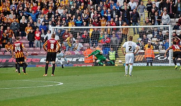 Chris Lines Scores Port Vale First Goal from Penalty Spot