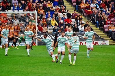 Yeovil Celebrate First Goal 2