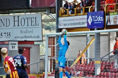 Ben Garratt Saves Andrew Davies Header