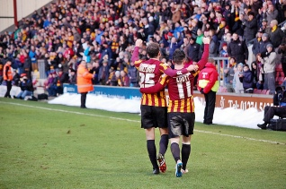 Andrew Halliday & Billy Knott Celebrate Goal