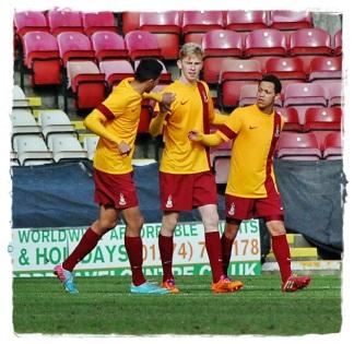 Ollie McBurnie Celebrates Goal