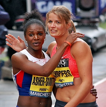 Dina Asher-Smith (Team GB) & Dafne Schippers (Holland) 2