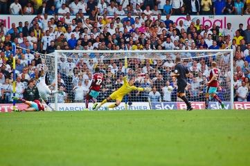 Leeds United's Alex Mowatt Shot Goes Wide